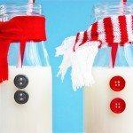 Snowman Milk Bottles   For the Kids & Santa