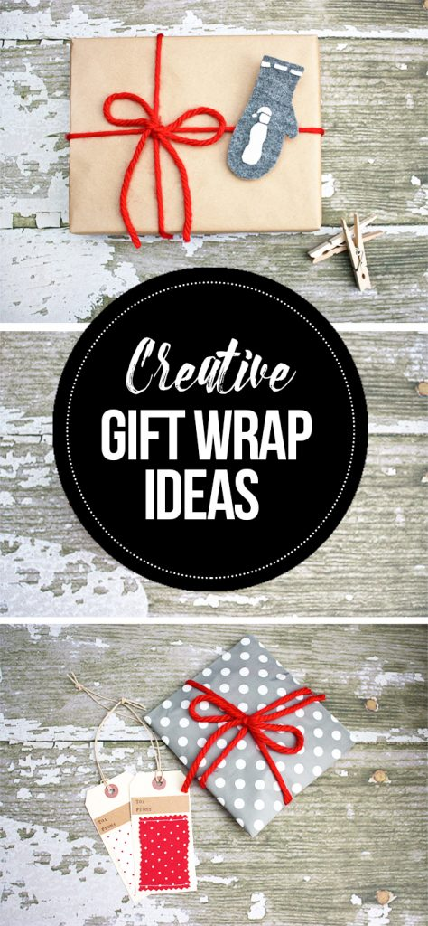 Creative gift wrap ideas using small bags, yarn and more! livelaughrowe.com