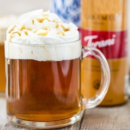 Hot Caramel Apple Cider. This is perfectly delicious and super easy hot drink to have on hand for a chilly fall or winter day!