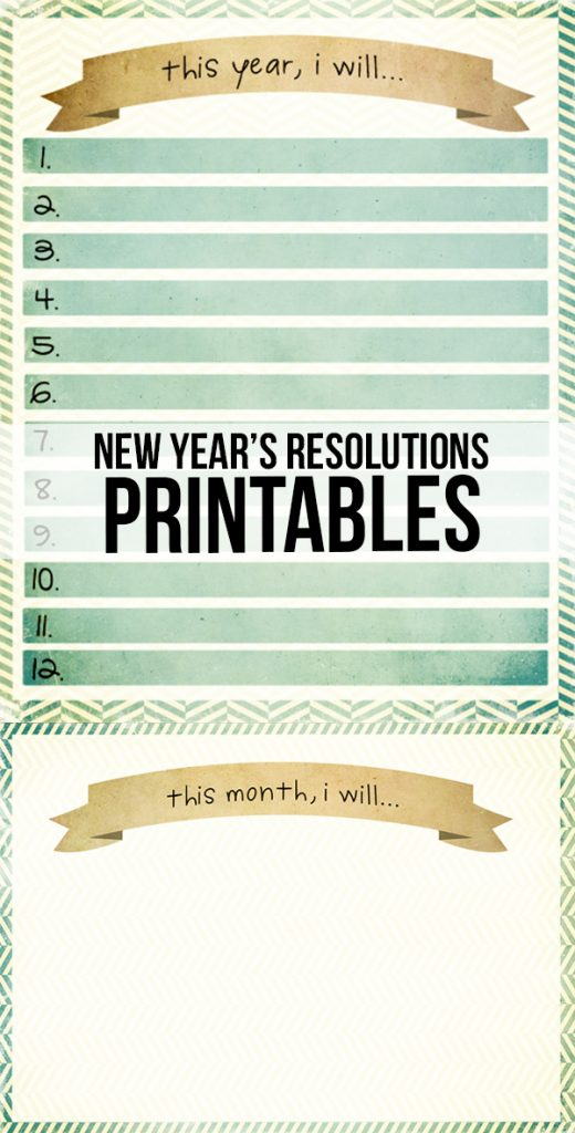 New Year Resolutions Printable Live Laugh Rowe
