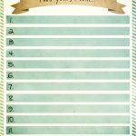 New Year Resolutions Printable