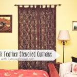 Peacock Feather Stenciled Curtains