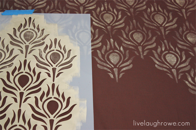 Peacock Feather Stenciled Curtains - Live Laugh Rowe