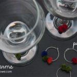 DIY Pom Pom Wine Charms