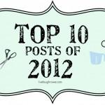 Top Ten Posts of {2012}