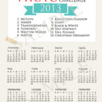 Photo a Month Challenge | 2013 Printable