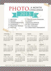Photo a Month Challenge | 2013 Printable