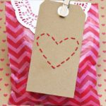 DIY Stitched Heart Valentine Tags
