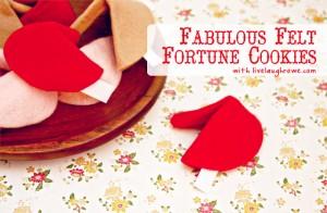 Fabulous Felt Fortune Cookies