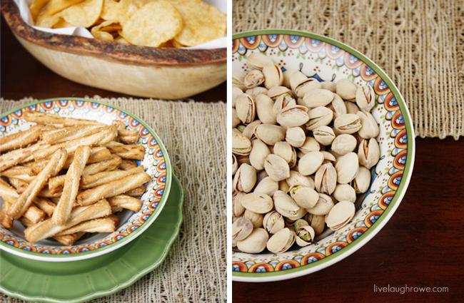 pretzels and pistachios