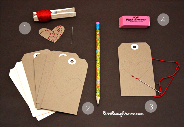 stitched heart tags