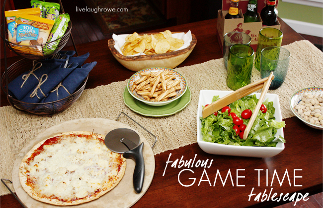 Fabulous Game Time Tablescape with LiveLaughRowe.com #worldmarket #football #entertaining