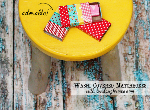 washi covered matchboxes