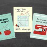 Printable Valentine Cards   Sew Adorable!