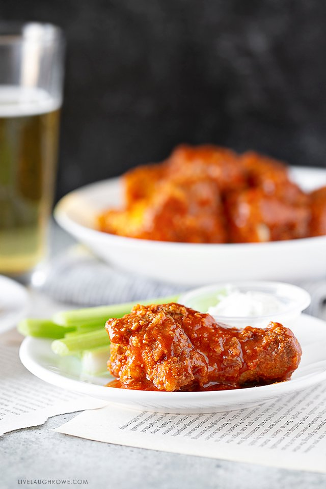 Beautifully Plated Baked Buffalo Chicken Wings
