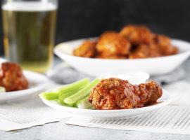 Mouthwatering plate of Baked Buffalo Wings