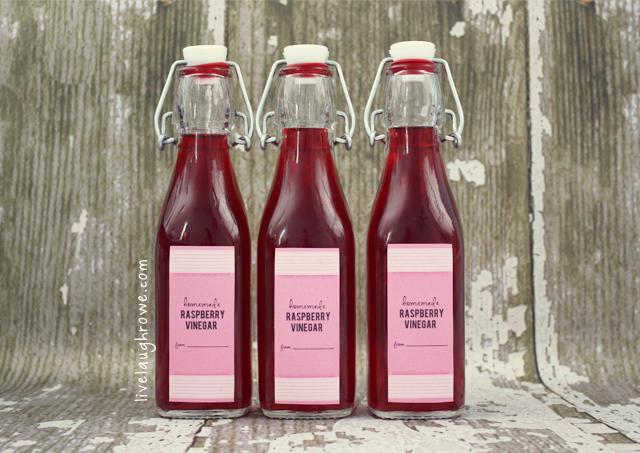bottled rasperry vinegar