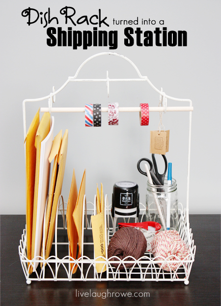 dish rack turned shipping station