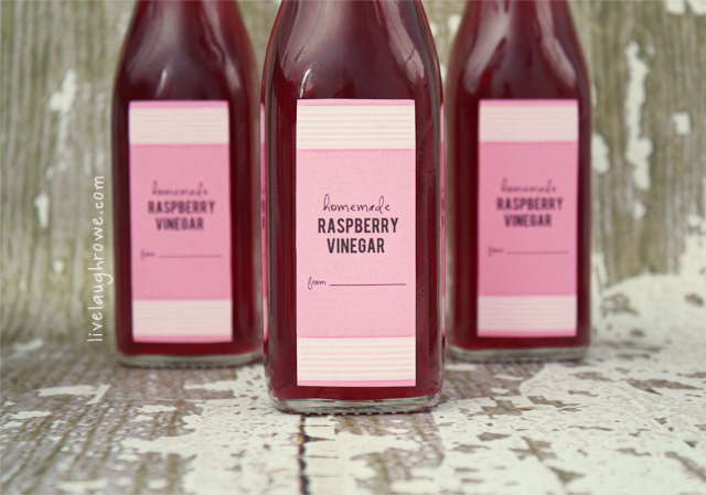 Printable for Red Raspberry Vinegar