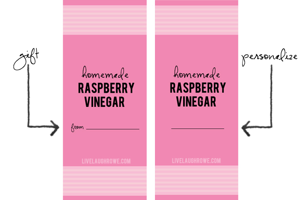 printable labels for vinegar