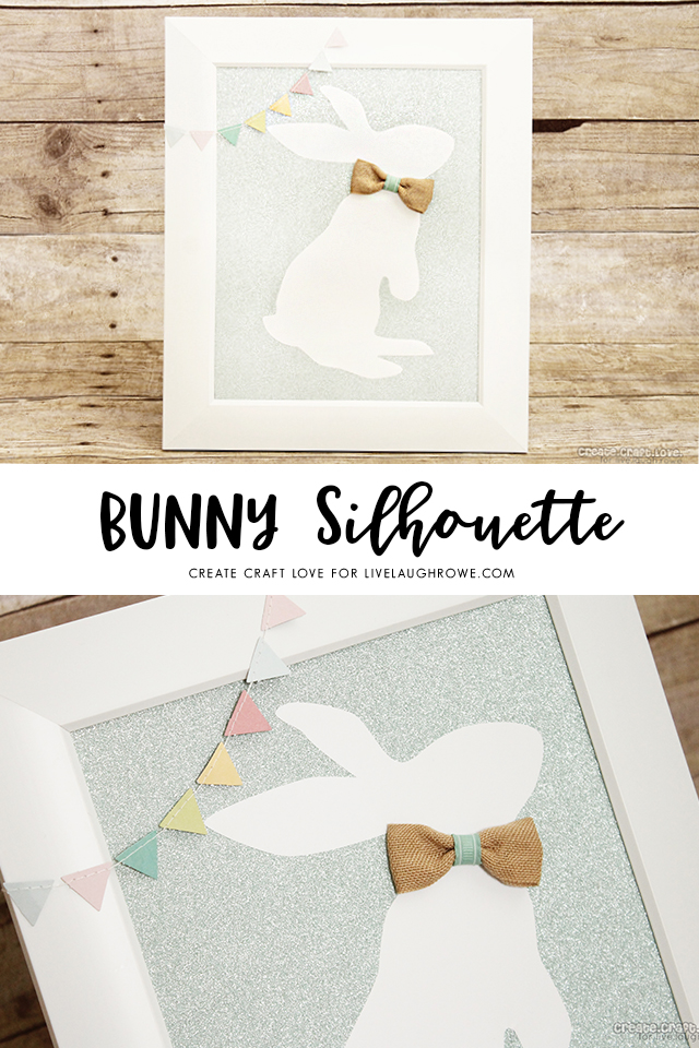 Adorable Bunny Silhouette to add to your seasonal home decor!