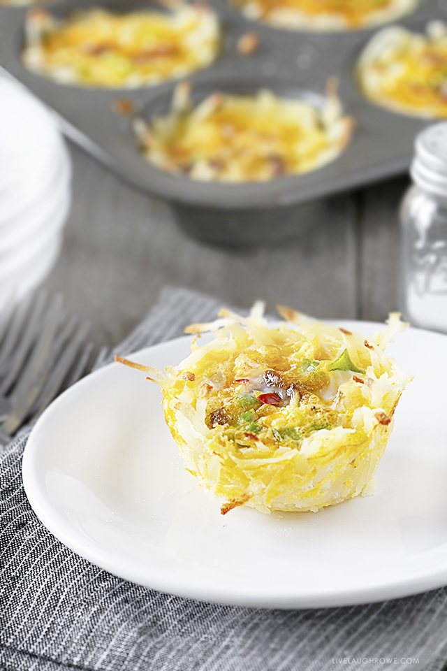 Individual Frittata on Plate
