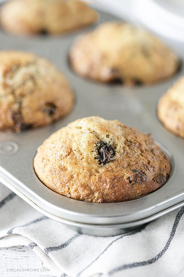Delicious Six Week Raisin Bran Muffins in pan