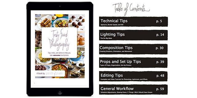 Tasty Food Photography E-Book by Pinch of Yum