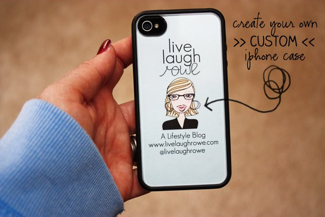 Diy iphone case brand yourself live laugh rowe for Diy custom phone case