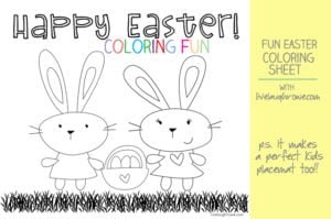 Easter Coloring Sheet | Live Laugh Linky #53