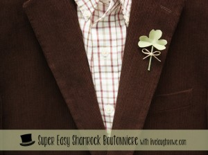 Super Easy DIY Shamrock Boutonniere