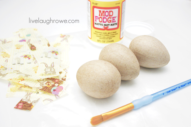 supplies for tissue paper eggs