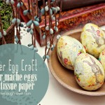 Easter Egg Craft with Paper Mache