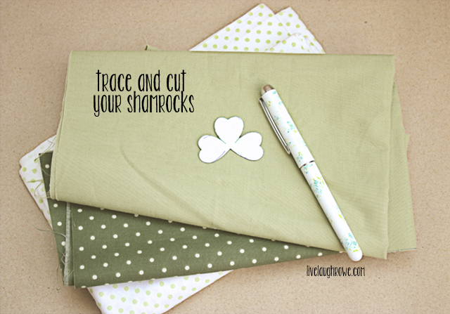 trace and cut your shamrocks