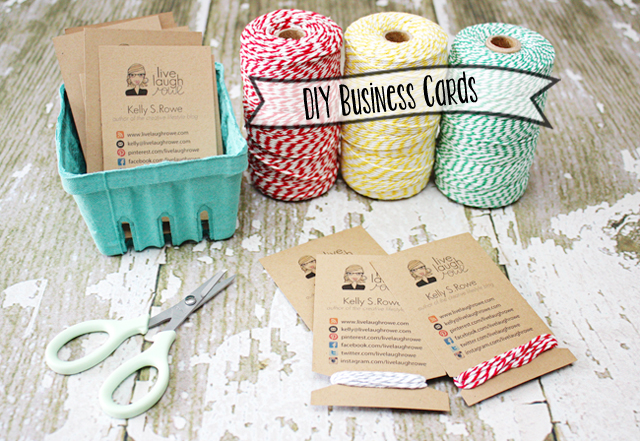 Diy business cards crafty style live laugh rowe handmade business cards colourmoves
