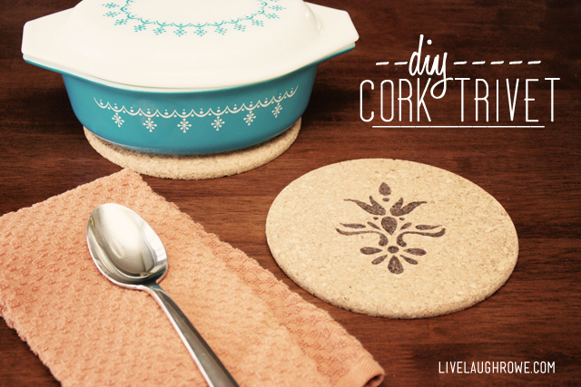 DIY Cork Trivet with Woodburning technique
