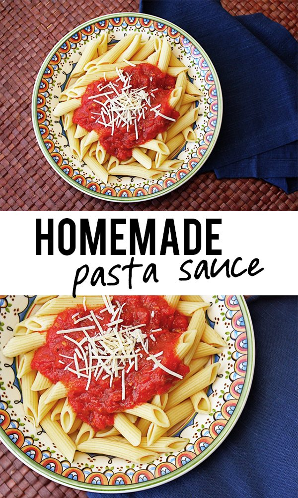 Homemade Pasta Sauce... delicious, easy and freezable! Recipe at livelaughrowe.com