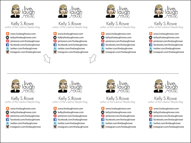 Diy business cards crafty style live laugh rowe diy business cards reheart Choice Image