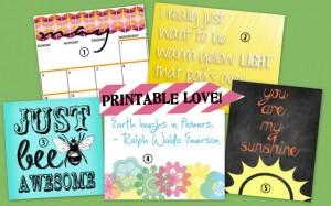 Printable Love | live laugh linky #58
