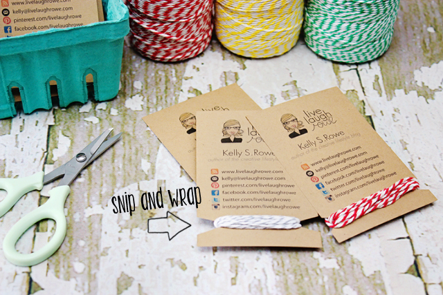 Diy business cards crafty style live laugh rowe handmade business cards reheart Images