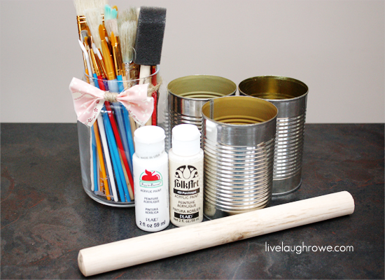 DIY Conidment Caddy Supplies
