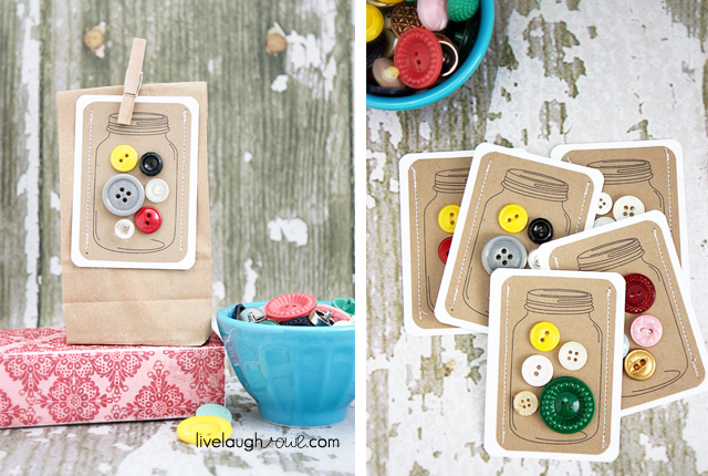 DIY Jars of Button Gift Tags