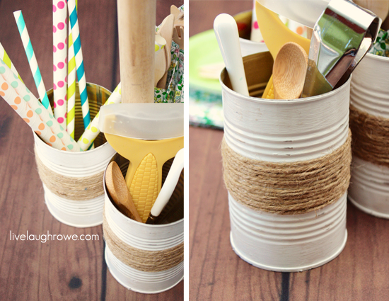 diy rustic condiment caddy