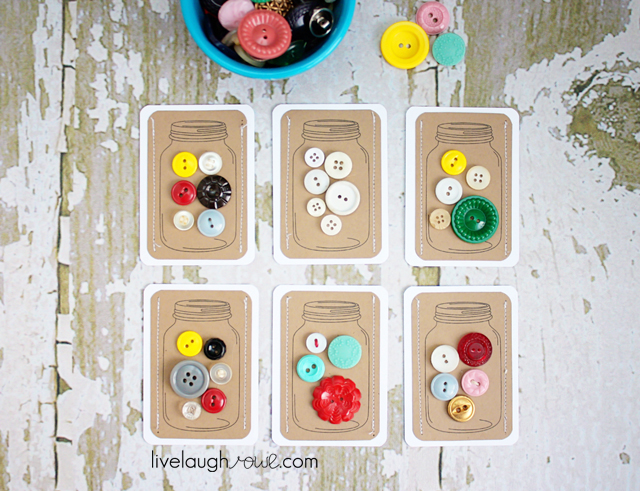 Fabulous Jars of Buttons DIY Gift Tags