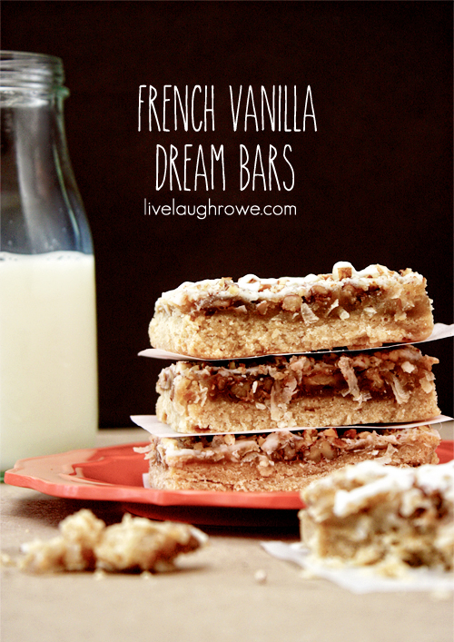 French Vanilla Dream Bars with livelaughrowe.com