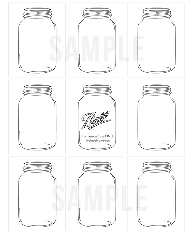 photo relating to Mason Jar Printable identified as Jars of Buttons Do-it-yourself Present Tags - Stay Giggle Rowe