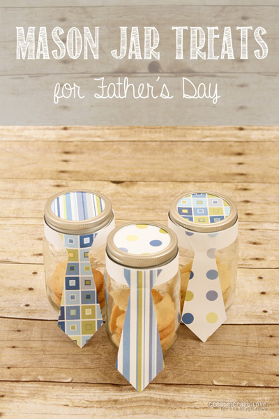 Mason Jar Treats for Father's Day from createcraftlove.com for livelaughrowe.com #fathersday #masonjars #giftideas