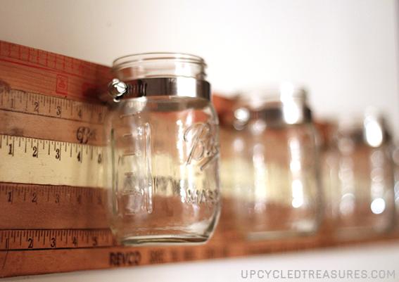 mason jar wall storage