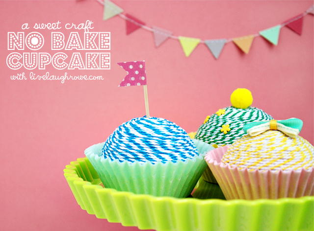 A Sweet Craft, No Bake Cupcakes with live laughrowe.com