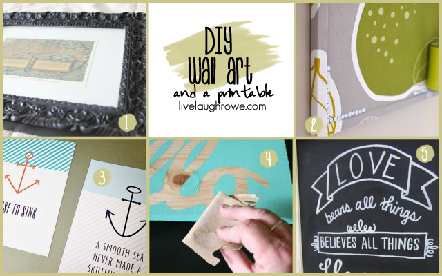 DIY Wall Art with livelaughrowe.com